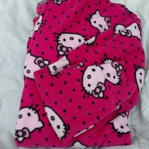 Hello Kitty feeted hooded pajamas